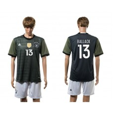 European Cup 2016 Germany away 13 Ballack soccer jerseys