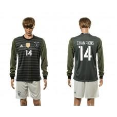 European Cup 2016 Germany away 14 Champions long sleeve soccer jerseys