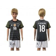 European Cup 2016 Germany away 18 Klinsmann grey kids soccer jerseys