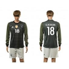 European Cup 2016 Germany away 18 Klinsmann long sleeve soccer jerseys