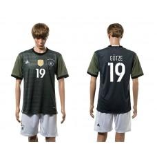 European Cup 2016 Germany away 19 Gotze soccer jerseys