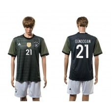 European Cup 2016 Germany away 21 Gundogan soccer jerseys