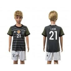 European Cup 2016 Germany away 21 Lahm grey kids soccer jerseys