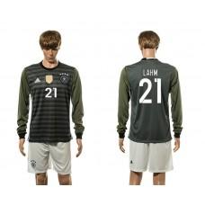 European Cup 2016 Germany away 21 Lahm long sleeve soccer jerseys