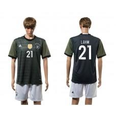European Cup 2016 Germany away 21 Lahm soccer jerseys