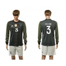 European Cup 2016 Germany away 3 Brehme long sleeve soccer jerseys