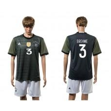 European Cup 2016 Germany away 3 Brehme soccer jerseys