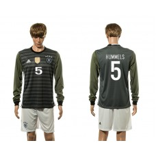 European Cup 2016 Germany away 5 Hummels long sleeve soccer jerseys