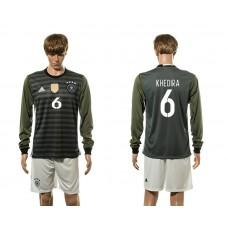 European Cup 2016 Germany away 6 Khedira long sleeve soccer jerseys