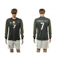 European Cup 2016 Germany away 7 Shweinsteiger long sleeve soccer jerseys