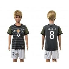 European Cup 2016 Germany away 8 Draxler grey kids soccer jerseys