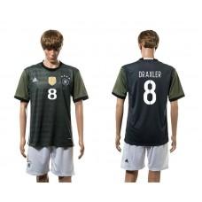 European Cup 2016 Germany away 8 Draxler soccer jerseys