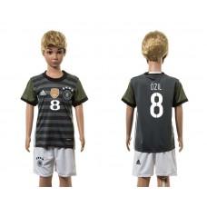 European Cup 2016 Germany away 8 Ozil grey kids soccer jerseys