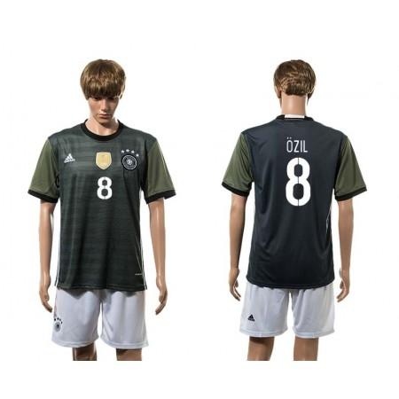 European Cup 2016 Germany away 8 Ozil soccer jerseys