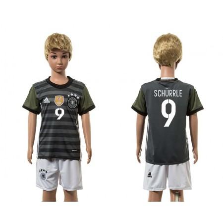 European Cup 2016 Germany away 9 Schurrle grey kids soccer jerseys