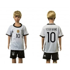 European Cup 2016 Germany home 10 customized white kids soccer jerseys