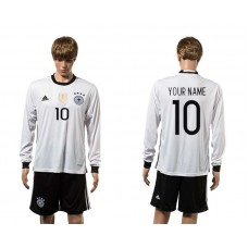 European Cup 2016 Germany home 10 customized white long sleeve soccer jerseys