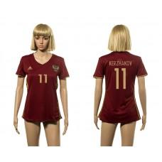 European Cup 2016 Germany home 11 Kerzhakov red Women socer jerseys