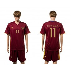 European Cup 2016 Germany home 11 Kerzhakov red soccer jerseys