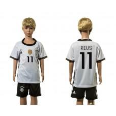European Cup 2016 Germany home 11 Reus white kids soccer jerseys