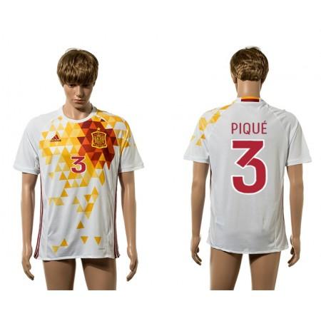 European Cup 2016 Spain awayc white AAA+ soccer jerseys