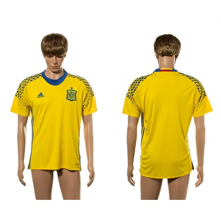 European Cup 2016 Spain blank yellow goalkeeper AAA+ soccer jerseys