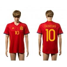 European Cup 2016 Spain home 10 Fabregas red AAA+ soccer jerseys