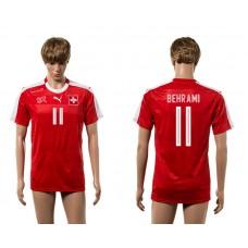 European Cup 2016 Switzerland home 11 Behrami red AAA+ soccer jerseys