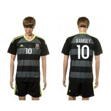 European Cup 2016 Welsh Away 10 Ramsey soccer jerseys