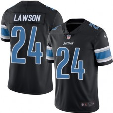 2016 Nike Detroit Lions 24 Nevin Lawson Black Mens Stitched NFL Limited Rush Jersey