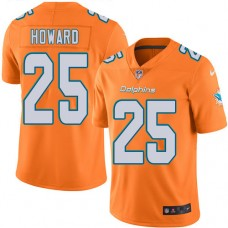 2016 Nike Miami Dolphins 25 Xavien Howard Orange Mens Stitched NFL Limited Rush Jersey