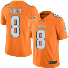 2016 Nike Miami Dolphins 8 Matt Moore Orange Mens Stitched NFL Limited Rush Jersey