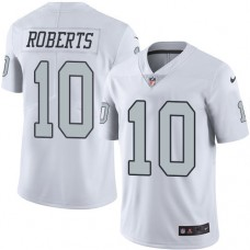 2016 Nike Oakland Raiders 10 Seth Roberts White Mens Stitched NFL Limited Rush Jersey