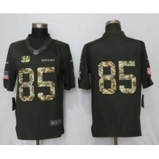 2017 Men Cincinnati Bengals 85 Eifert Anthracite Salute To Service Green New Nike Limited NFL Jersey