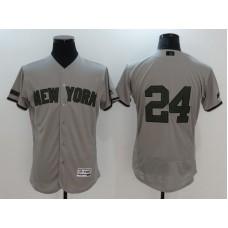 2017 Men MLB New York Yankees 24 Gary Sanchez Grey Elite Commemorative Edition Jerseys