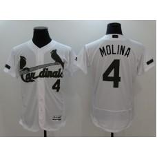 2017 Men MLB St. Louis Cardinals 4 Molina White Elite Commemorative Edition Jerseys