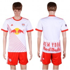 2017-2018 Club Men The New York Red Bulls Home Suits Soccer Jersey