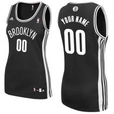 Adidas Brooklyn Nets Women Custom Replica Road Black NBA Jersey