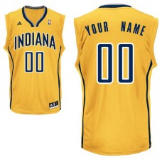 Adidas Indiana Pacers Youth Custom Replica Alternate Yellow NBA Jersey