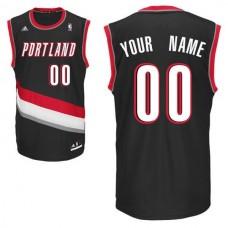 Adidas Portland Trail Blazers Youth Custom Replica Road Black NBA Jersey