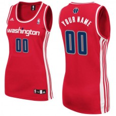 Adidas Washington Wizards Women Custom Replica Road Red NBA Jersey