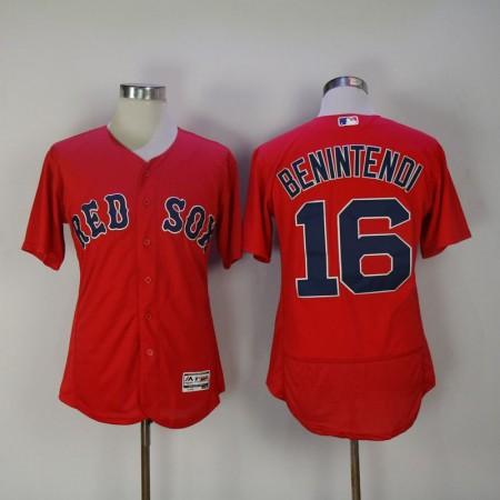 Men 2017 MLB Boston Red Sox 16 Benintendi Red Elite Jerseys