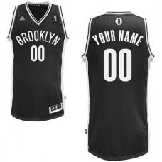 Men Adidas Brooklyn Nets Custom Swingman Road Black NBA Jersey