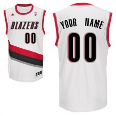Men Adidas Portland Trail Blazers Custom Replica Home White NBA Jersey