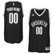 Men Brooklyn Nets Adidas Black Custom Swingman Road NBA Jersey