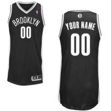 Men Brooklyn Nets Black Custom Authentic NBA Jersey