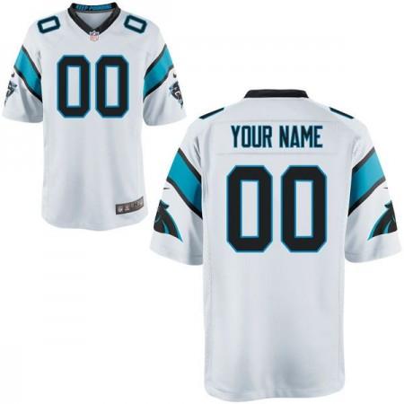 Men Carolina Panthers Custom Game White NFL Jersey
