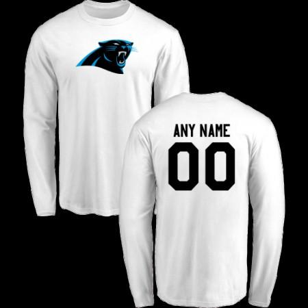 Men Carolina Panthers Design-Your-Own Long Sleeve Custom NFL T-Shirt