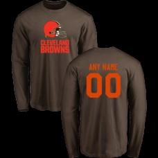 Men Cleveland Browns Design-Your-Own Long Sleeve Custom NFL T-Shirt