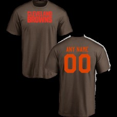 Men Cleveland Browns Design-Your-Own Short Sleeve Custom NFL T-Shirt